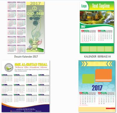 Template Desain Kalender 2017 CDR Vektor Lengkap Hijriyah dan Libur Nasional