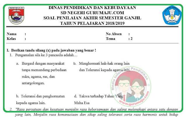 Soal UAS / PAS Kelas 6 Tema 2 dan Kunci Jawaban Tahun 2021 / 2022