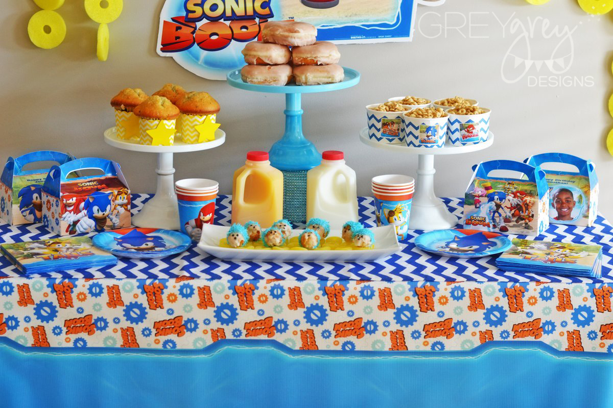 Greygrey Designs My Parties Sonic The Hedgehog Birthday Brunch