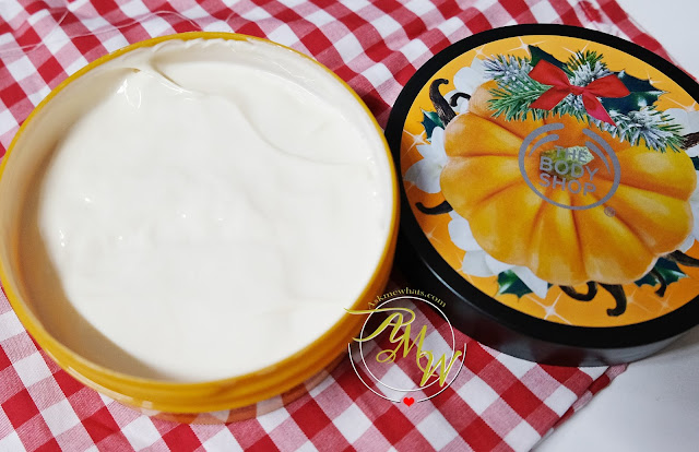 a photo of The Body SHop Halloween Special Edition Vanilla Pumpkin Body Butter review.