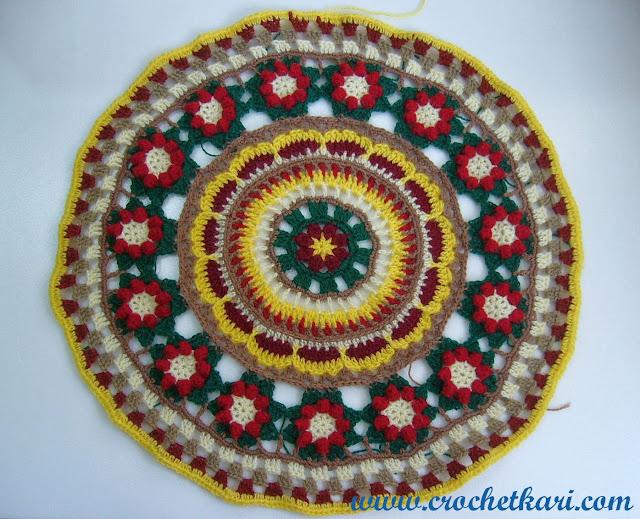 crochet/hekel mandala cal 2016