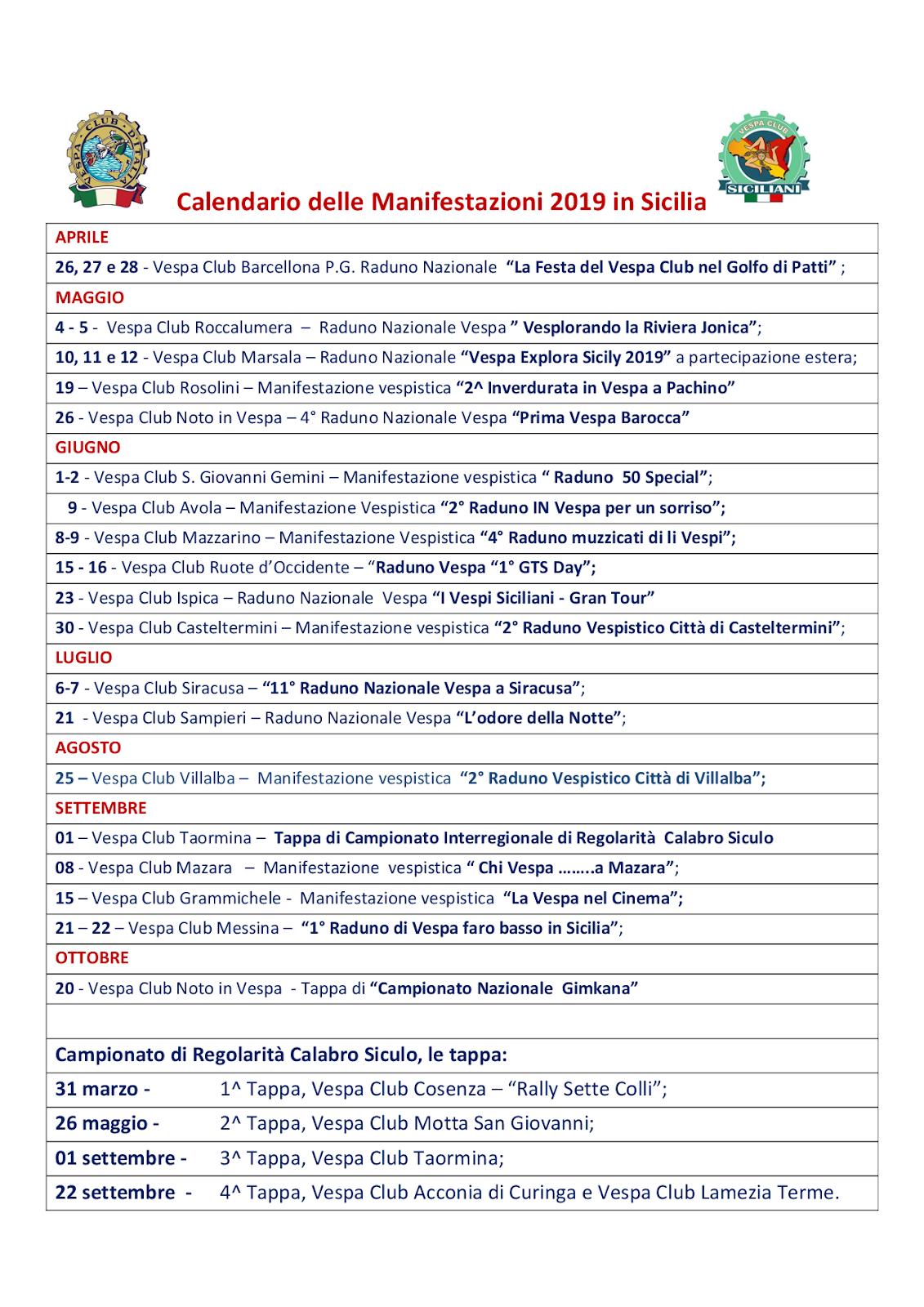 Vespa Club Trapani: RADUNI Sicilia