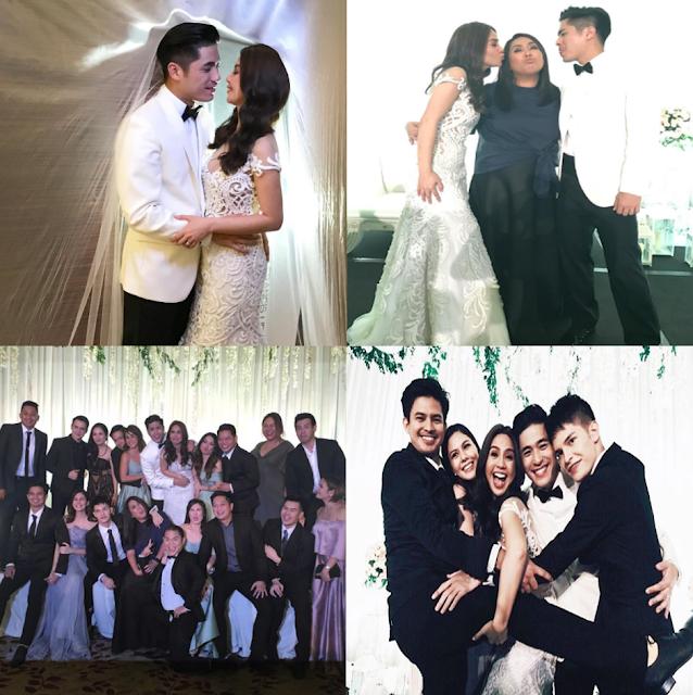 Take A Peek At Paul Jake Castillo And Kaye Abad's Wedding Reception!