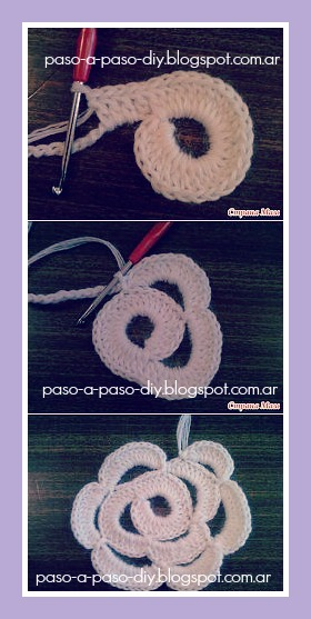 Cómo hacer una flor tejida
