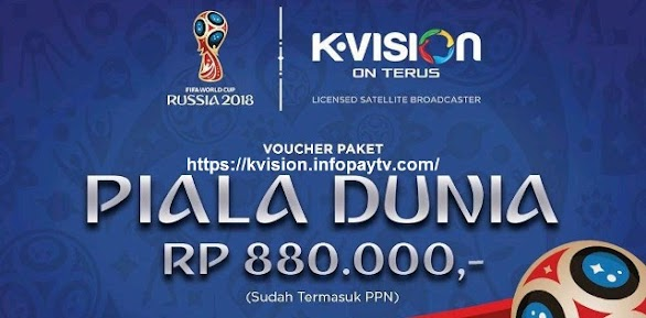 Voucher Fisik K Vision Piala Dunia 2018
