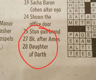 clue reads 'daughter of Darth'