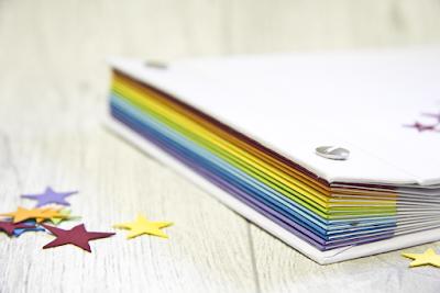 Minibook zur Kommunion oder Konfirmation mit Regenbogen