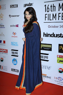 Aishwarya Rai In Blue Saree 3