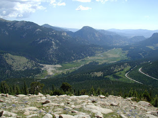 Roaring River Alluvial Fan, Sheep Lakes, & Horsehoe Park from Rainbow Curve Overlook on Trail Ridge Rd
