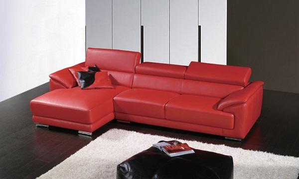 Kết quả hình ảnh cho Ghế sofa da  màu đỏ