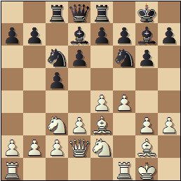 XIX Campeonato Individual de Cataluña 1950/51, partida de ajedrez Lladó vs. Bordell, posición después de