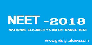 NEET Notification -2018 Online Application Form - Schedule Details
