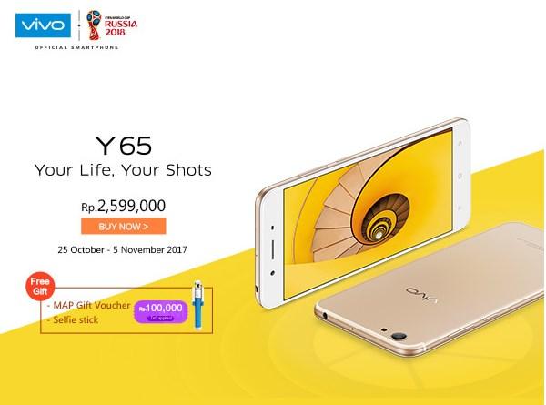Harga dan Spesifikasi Lengkap Vivo Y65 Indonesia