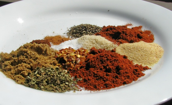 The 4-C's are cumin, coriander, chili and cayenne.