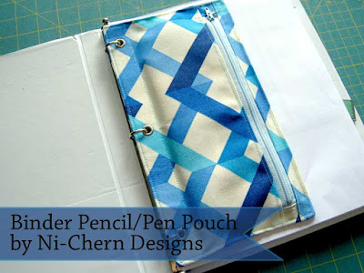 Sewing Tutorial: 3-Ring Binder Pen Pencil Pouch