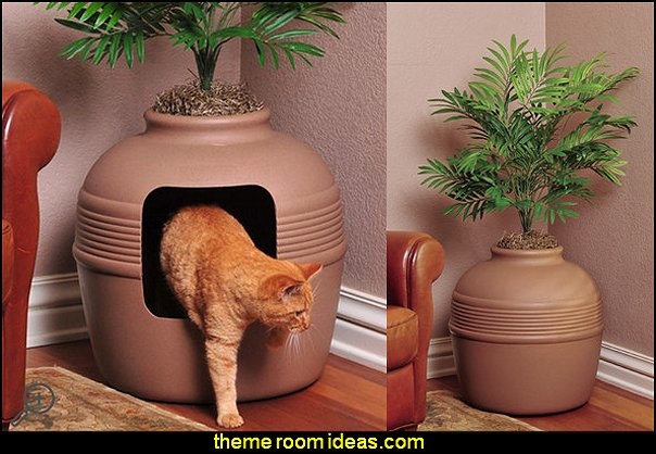 Covered Hidden Cat Litter Box with Decorative Planter