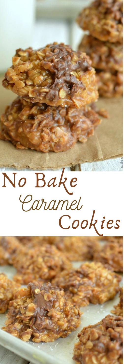 NO BAKE CARAMEL COOKIES #cookies #cakes