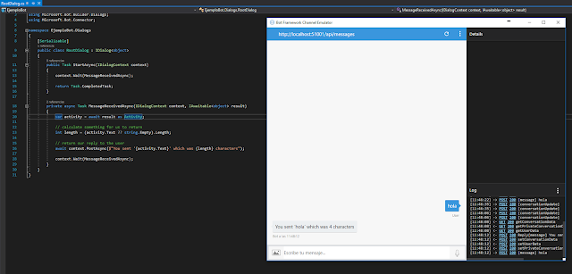 Emulador de bot en Visual Studio