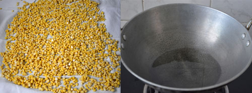 drying chana dal