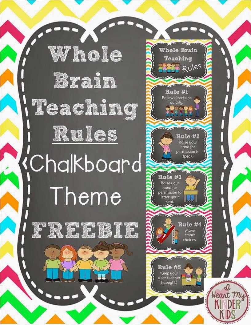 Whole brain teaching rules chalkboard theme on manic monday also  heart my kinder kids rh iheartmykinderkidsspot