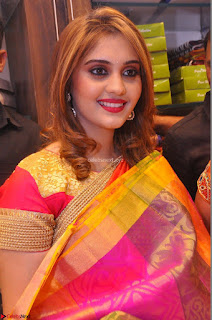 Surabhi looks stunning in Saree at Nakshatra Fashion Store Launch at Suchitra X Road 20.JPG