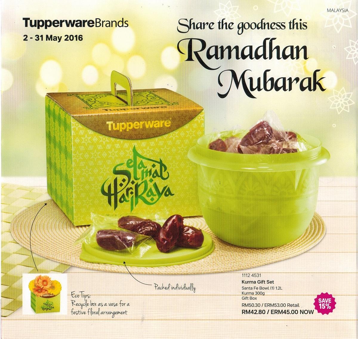 Cerita Ramadhan Saya Leaflet Tupperware Malaysia 2 May 31 May 2016