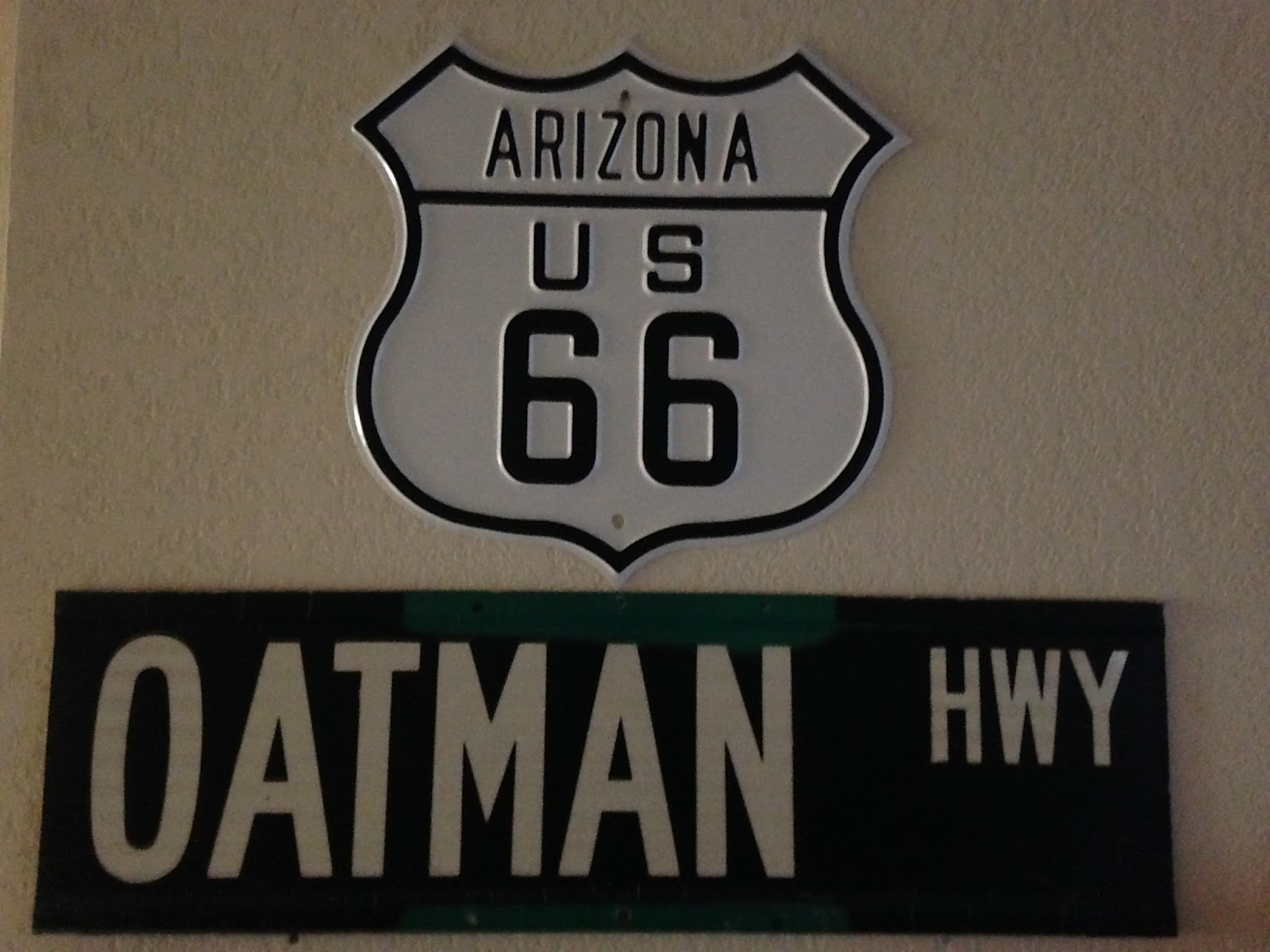 i used to visit oatman frequently there are a ton of us route 66 shields to be seen all over town the oatman hotel actually dates back to 1902 and