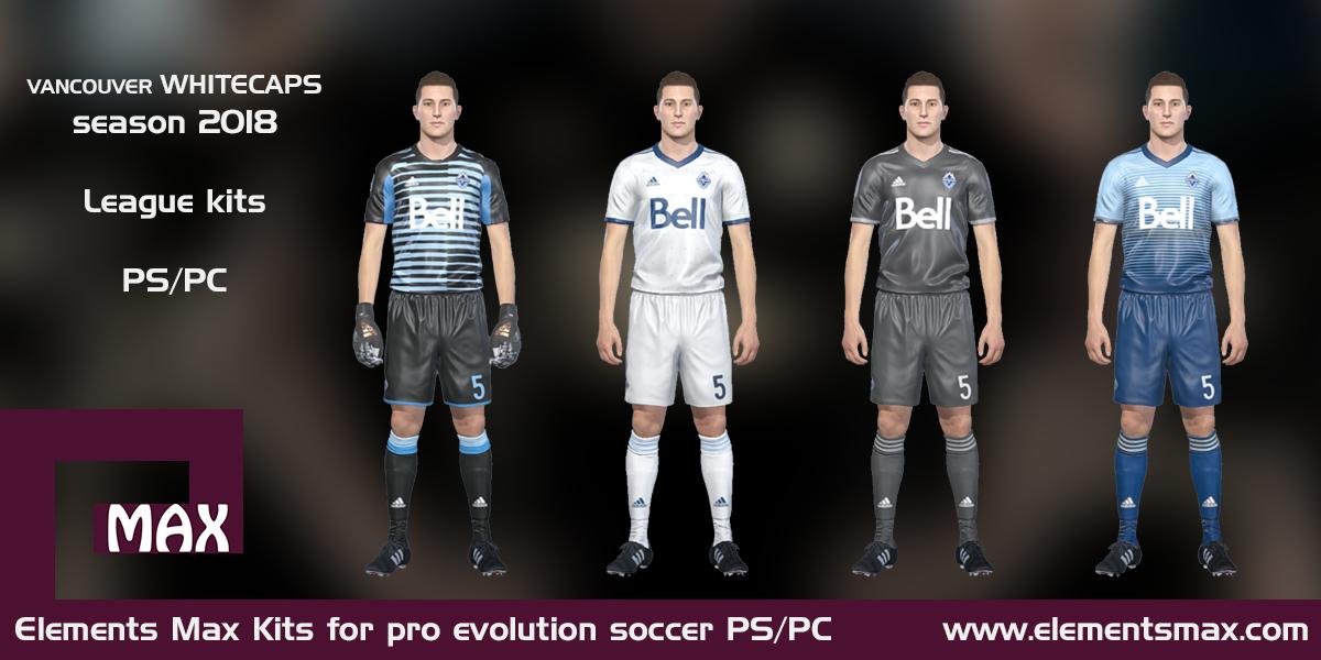 size 40 86c2c 5b7e4 Elements MAX Kits: Vancouver Whitecaps PES kits 2018