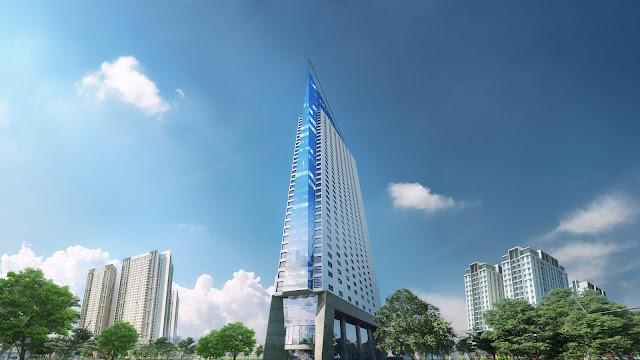 Tháp doanh nhân với chiều cao 168m