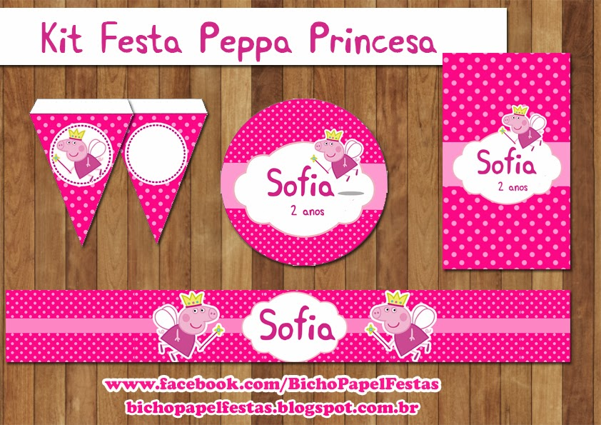 Kit Festa Digital Peppa Pig Princesa