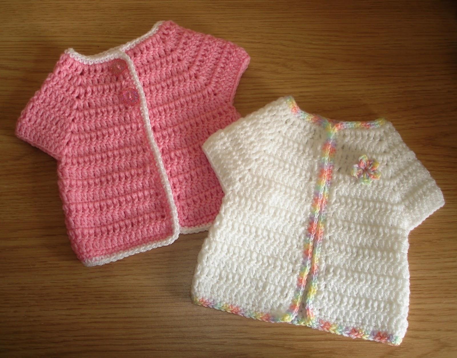 Marianna s Lazy Daisy Days Cute Crochet Baby Cardi