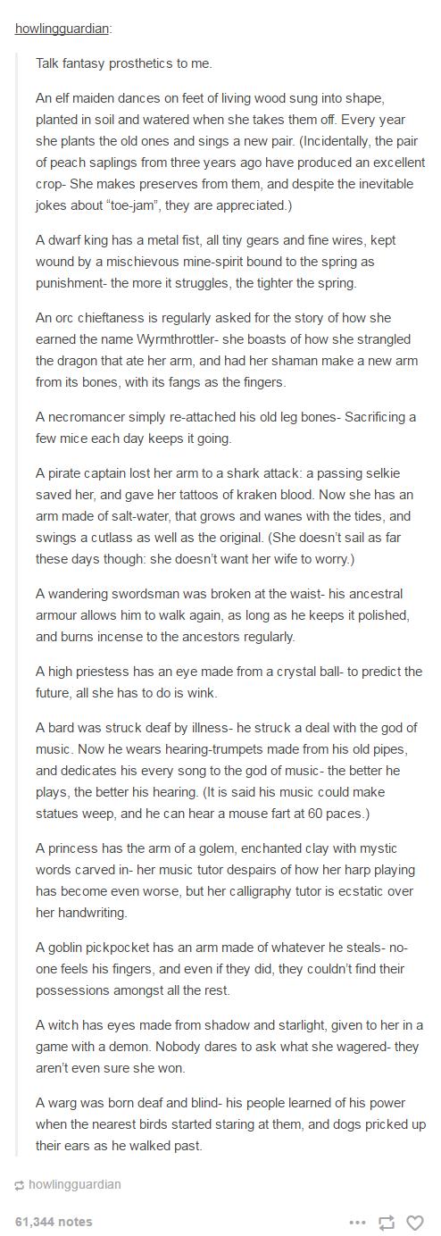 Fantasy Prosthetics - Tumblr