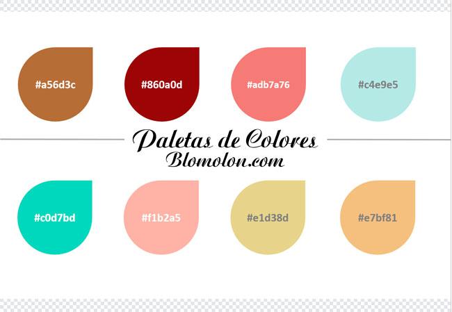 paletas de colores nueve