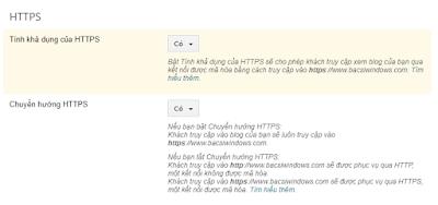 Hiệu chỉnh lại hệ thống SEO cho giao thức https mới trên blogspot