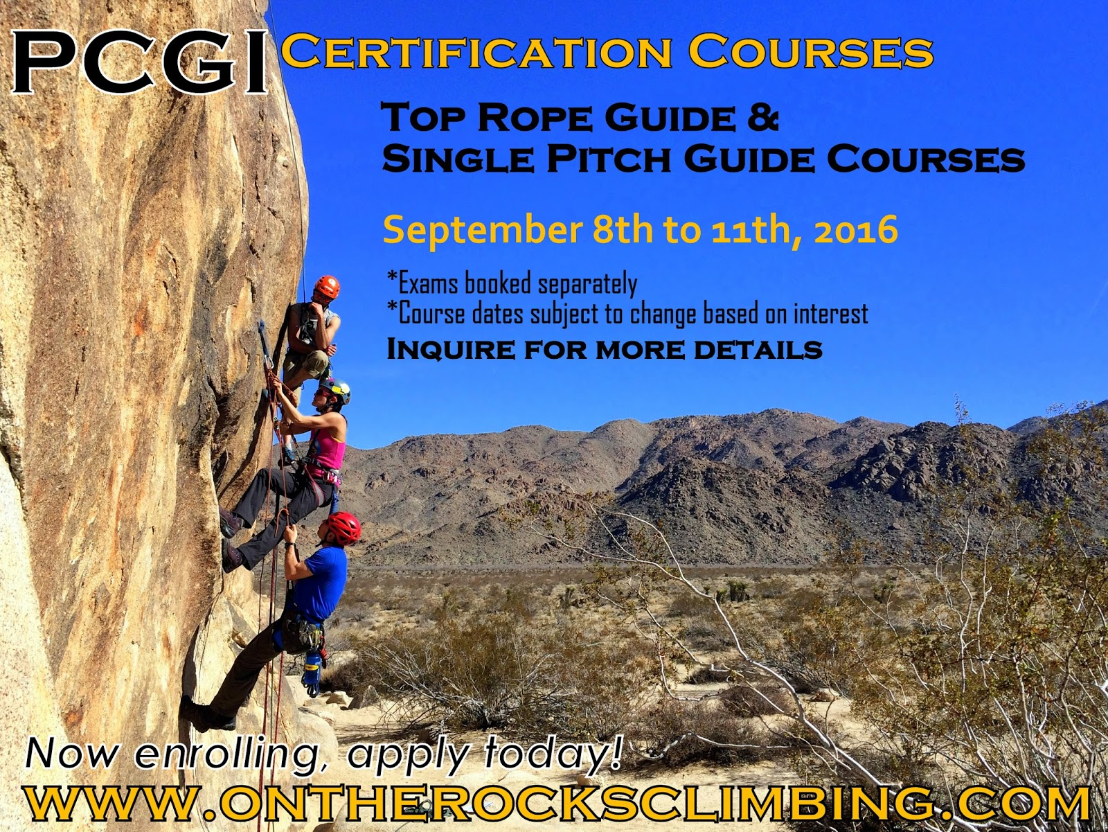 On The Rocks   Outdoor Rock Climbing Courses and Adventures in ...