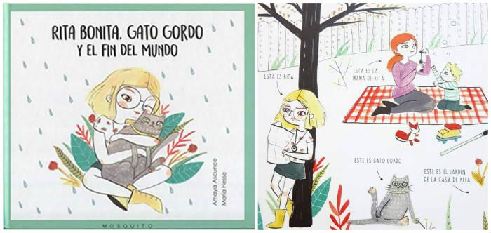 mejores cuentos infantiles 3 a 5 años, libros recomendados rita bonita gato gordo fin mundo