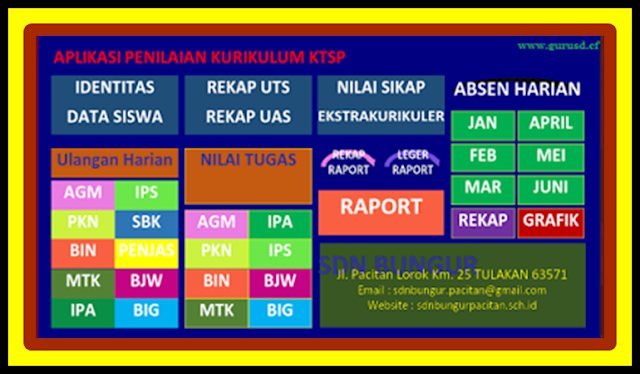 Download Aplikasi Raport KTSP 2017/2018 Plus Absen Harian Versi Terbaru