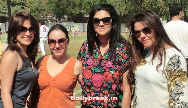 Amrita Raichand with Kehkashan Patel, Raveena Tandon at Junior Football Championship League 2014