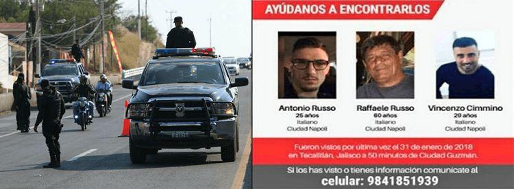 Policías Mexicanos Relacionados al Secuestro de 3 Empresarios Italianos en Jalisco