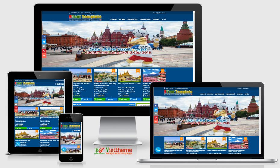 BTour v2 Template - Một template bán tour du lịch dành cho Blogspot