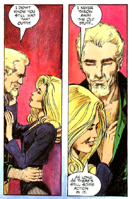 panels from Longbow Hunters #1 (1987). Property of DC comics.