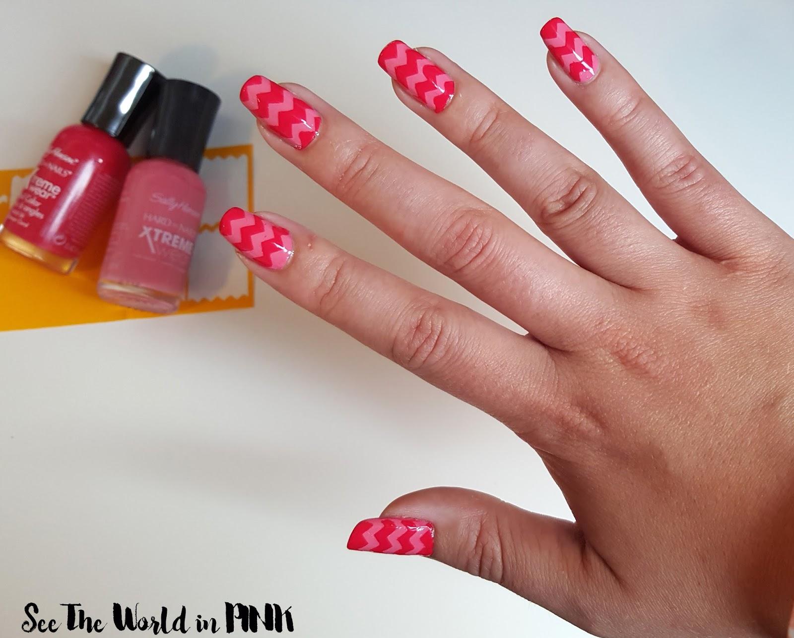 chevron nail art nail vinyls