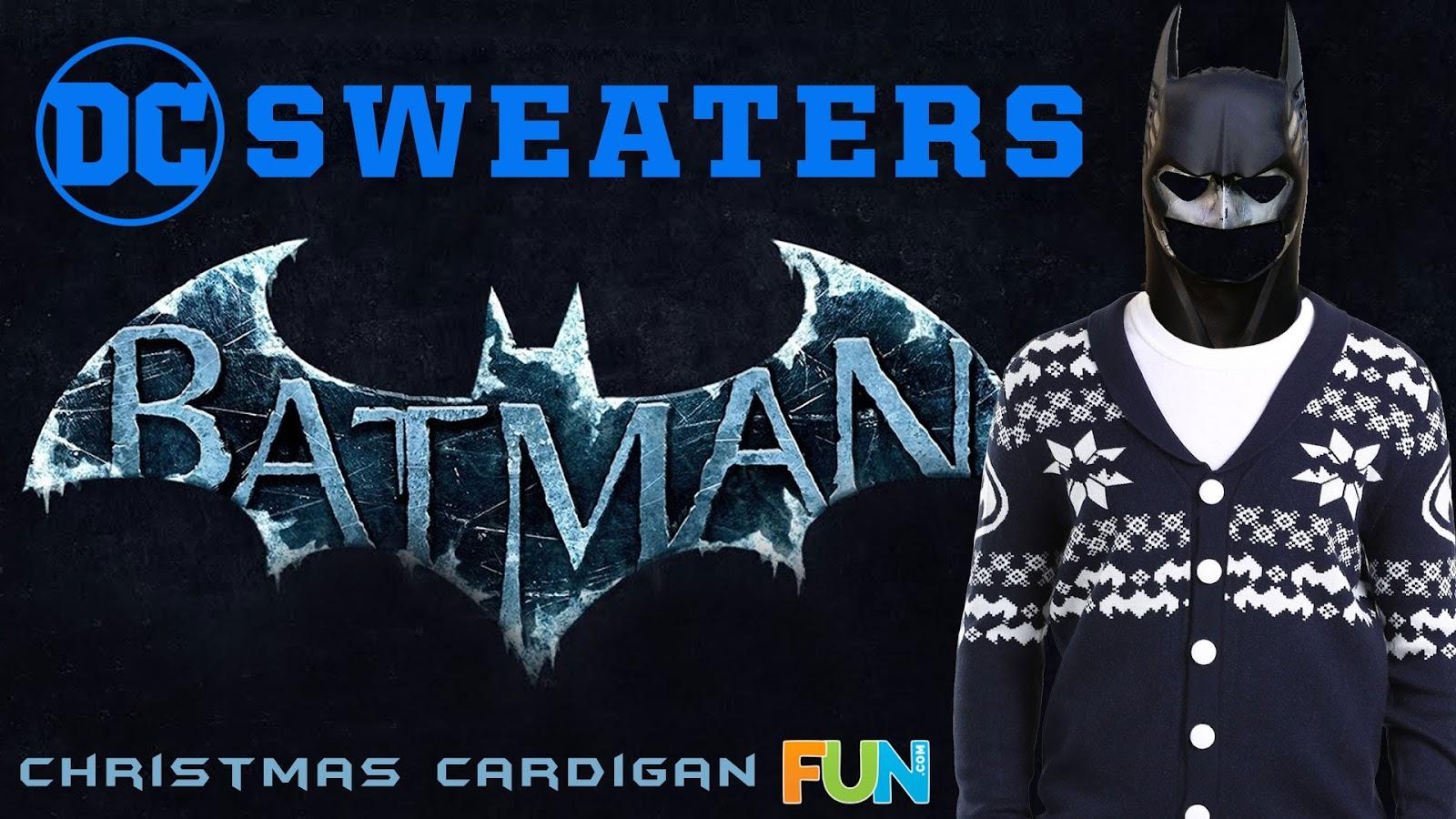 Batman Christmas.Batman Christmas Cardigan Dc Sweaters Spotlight Fanboys