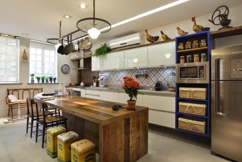 Construindo Minha Casa Clean Tendência de Cozinhas com Ilha Central e Ilha A # Bancada De Pia De Cozinha Rustica
