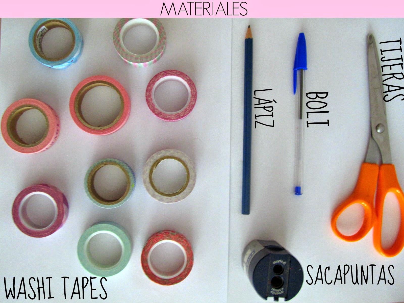 pero bueno vamos a aprender a hacer bolis con washi tape ya veris que es muy fcil y queda sper bien all vamos con los materiales