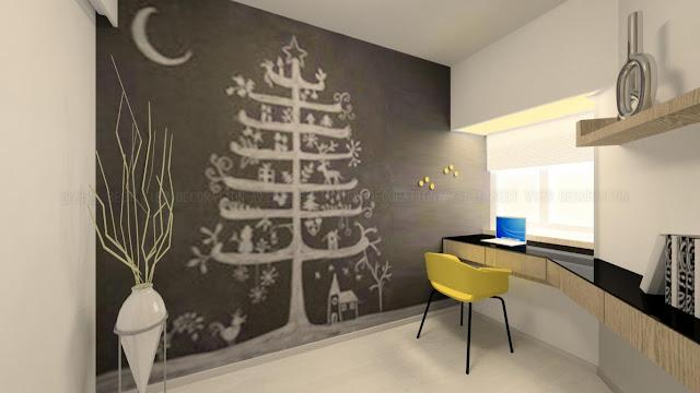 海逸豪園書房室內設計,Laguna Verde study interior design