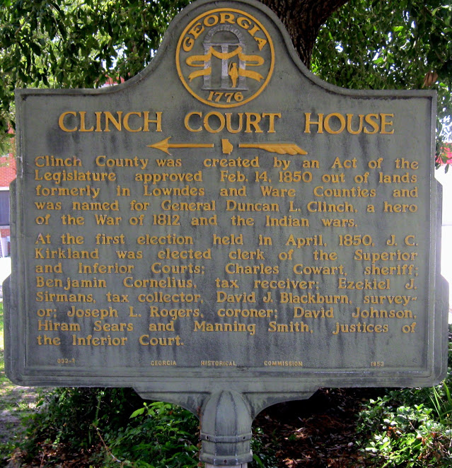 clinch county Clinch (klĭnch) v clinched, clinch ng, clinch s vtr 1 a to fix or secure (a nail or bolt, for example) by bending down or flattening the pointed end that protrudes.