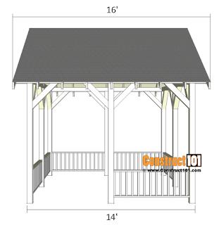 Pavilian plans for a 14x16