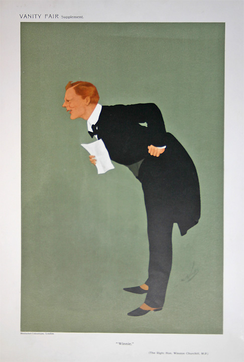 Antique Prints Winston Churchill Vanity Fair Print