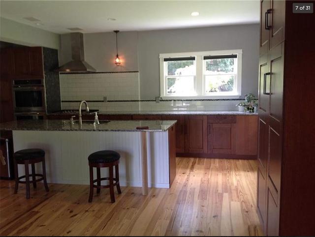 beautiful floors, granite, cabinets, and backsplash of Sears Sunbeam 176 Churchill Road Turtle Creek Pennsylvania